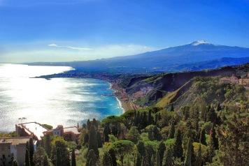 Taormina, Sicilië, Etna