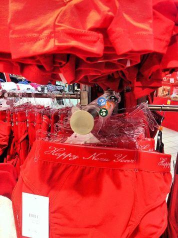 kerst, capodanno en rood ondergoed