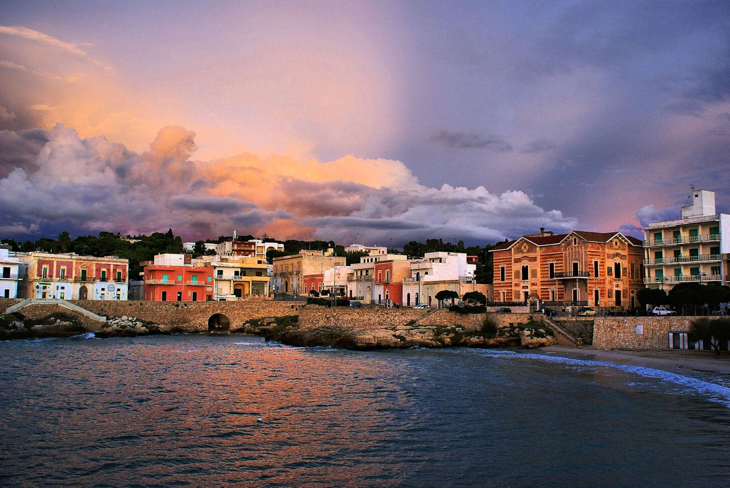 De kustlijn van salento sogno italiano - Santa maria a bagno ...