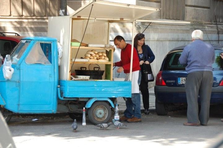 Straat eten Palermo