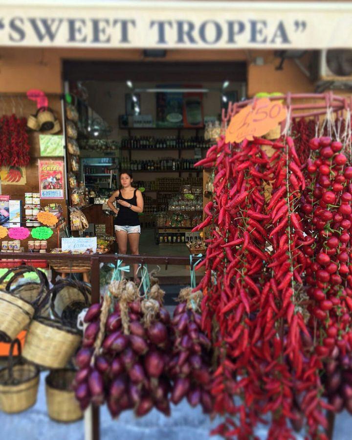 De rode pepers van Calabrië