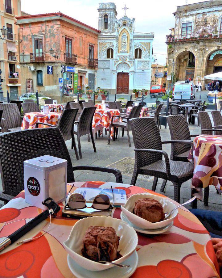 Het centrum van Pizzo in Calabrië